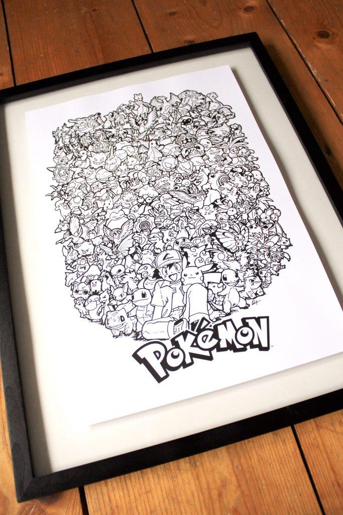 Pokemon A3 Print