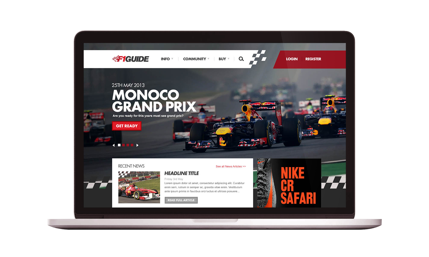 F1 Guide Website Design