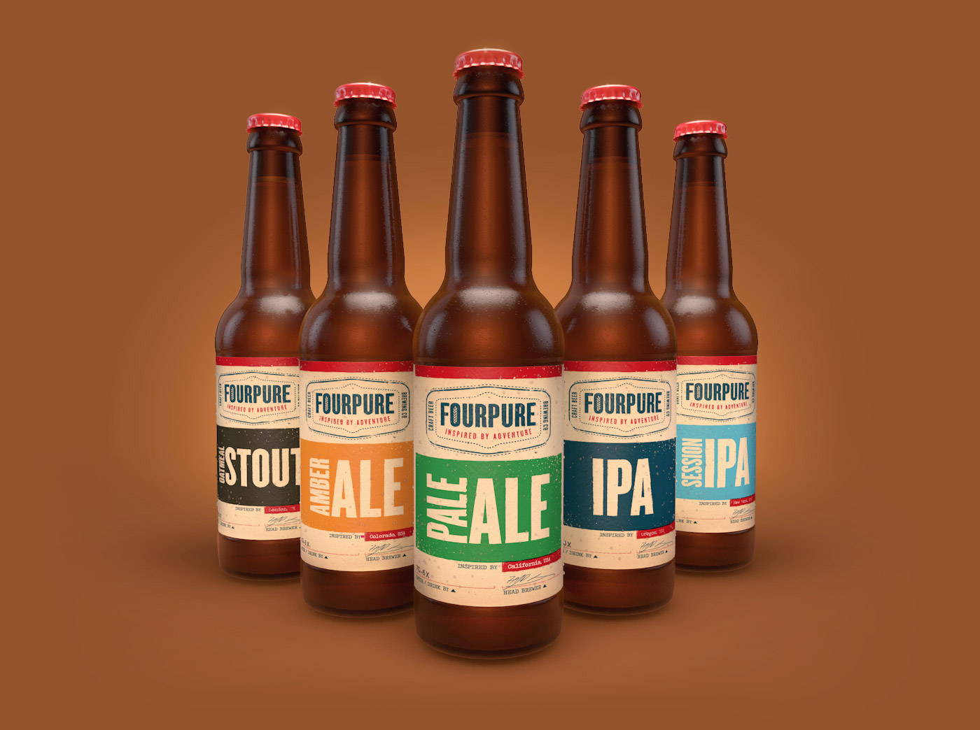 Fourpure 3D Bottle Renders