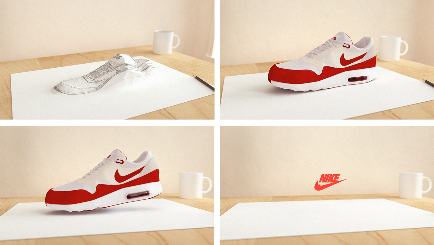 Nike 3D Animation Frames