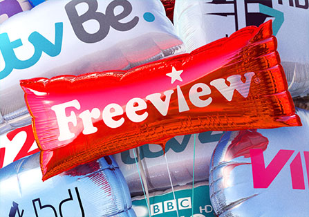 Freeview Balloon Campaign Renders