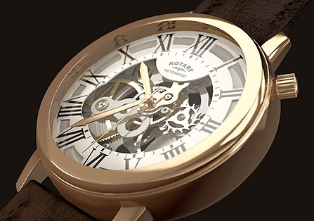 Rotary Watch 3D Animation