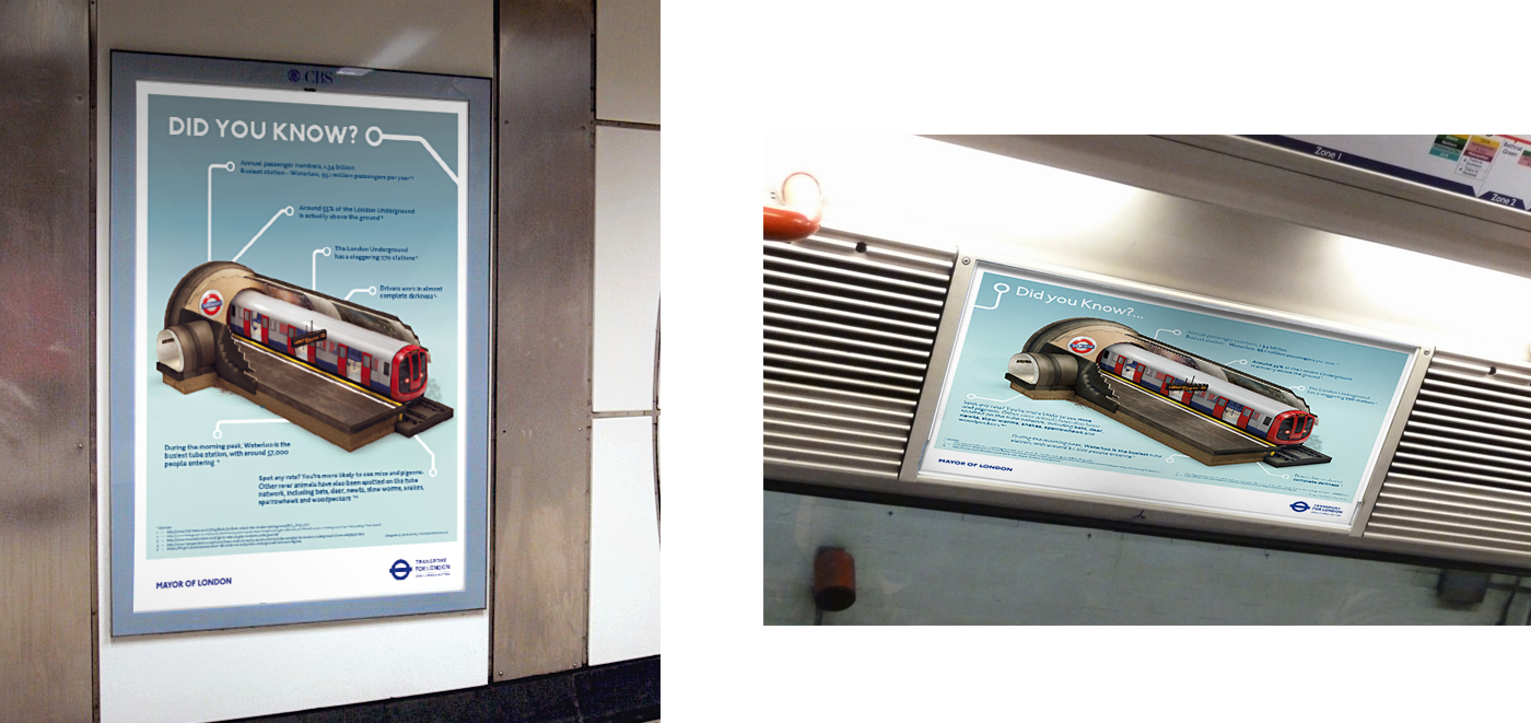 London Underground Tube Adshell Posters